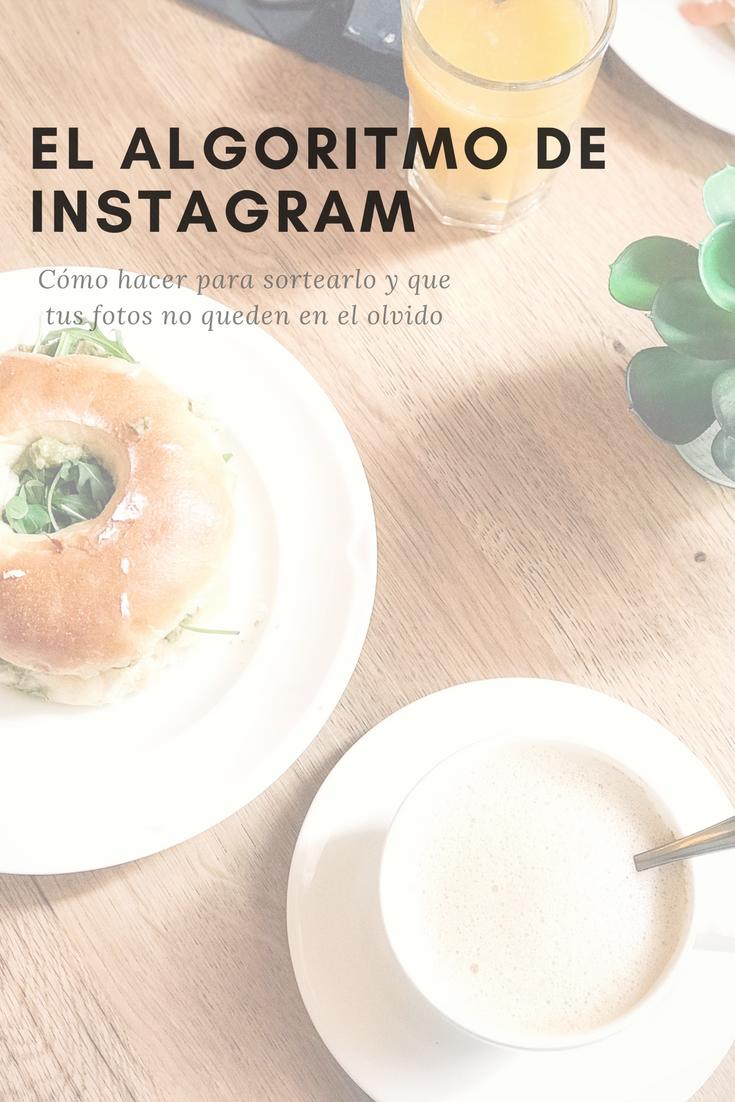 desayuno para explicar el algoritmo de instagram